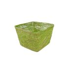 Кашпо, сизаль, квадрат, зелёное яблоко 10 х 14 х 14 см