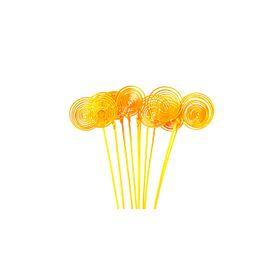 Ротанг, кольца на пике, жёлтые набор 10 шт