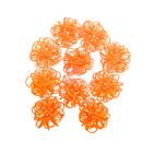 Ротанг шары-петельки, ярко-оранжевый набор 10 шт
