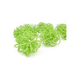 Ротанг шары-петельки, светло-зелёные набор 10 шт