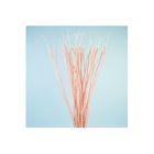 Шпон декоративный, спираль на прутике, розовая 80 см, набор 40 шт