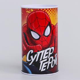 """Копилка детская """"Супер герой"""", Человек-паук, 6,5 х 12 см"""