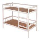 Кровать детская двухъярусная из массива, цвет белый, спальное место 160х70 см