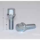 Болты 12x1,25 мм, длина 52/28 мм, под ключ 17 мм, конус, цинк, набор 20 шт.