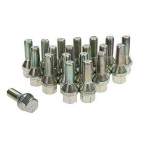 Bolts 12x1,5 mm length 52/28 mm, turnkey 17mm, cone, zinc, set of 20 PCs