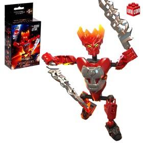 Конструктор-робот «Воин Огня», 19 деталей