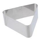 Форма для гарнира треугольная 11,4 см, высота 5 см, толщина металла 0,6 мм
