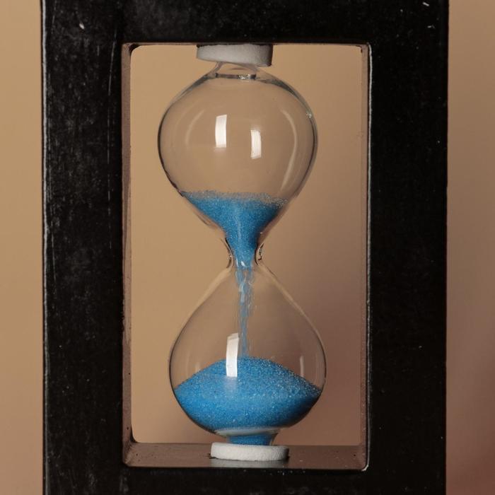 Часы песочные, рамка прямоугольная, песок цвета микс
