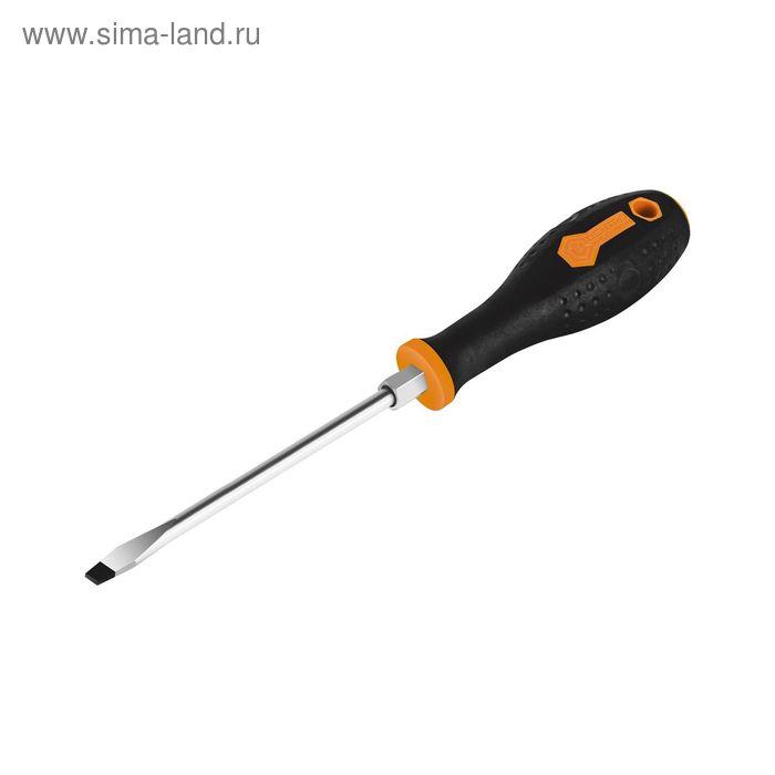 "Отвертка шлиц CrM 8510-200 10.0х1.6х200 мм ""Центроинструмент"", основание под 6ти гран. ключ   227830"