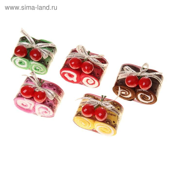 Набор сувенирных полотенец Рулетики 20х20 см - 4шт., МИКС
