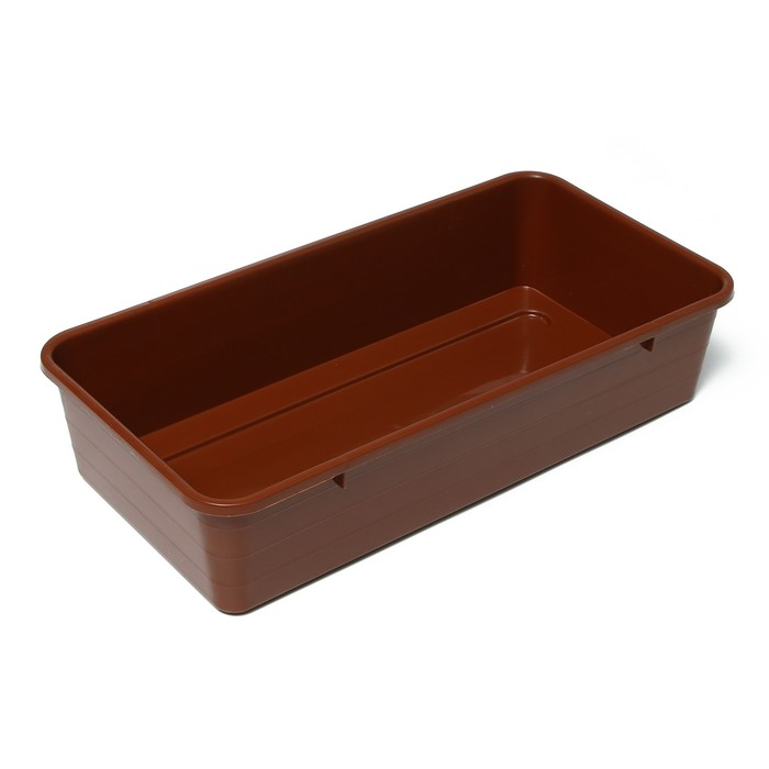 Ящик для рассады, 40 × 20,5 × 9,5 см, терракотовый