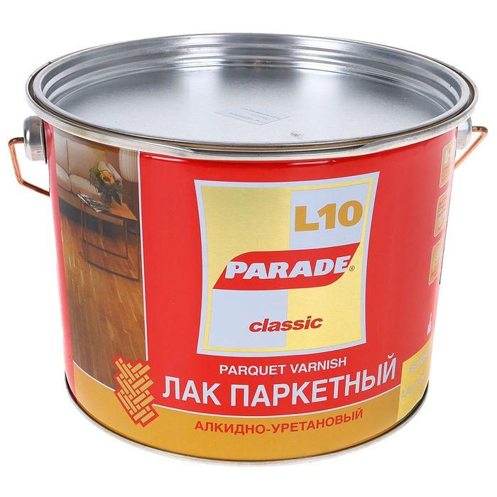 Лак паркетный алкидно-уритановый L10 PARADE матовый 10 л