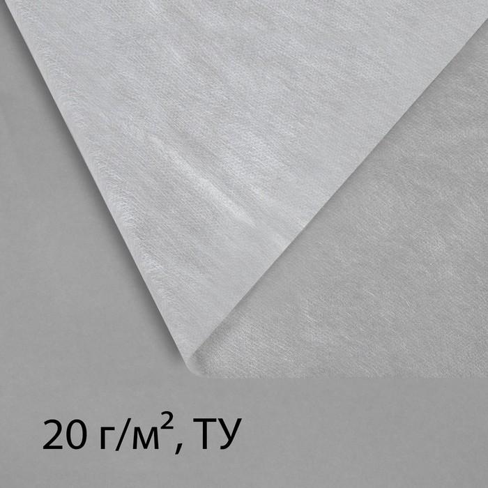 Материал укрывной, 10 × 1,6 м, плотность 20, с УФ-стабилизатором, белый, Greengo, Эконом