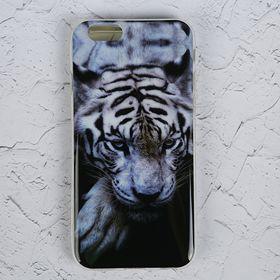 Силиконовый чехол LuazON для iPhone 6/6s 'Белый тигр' Ош