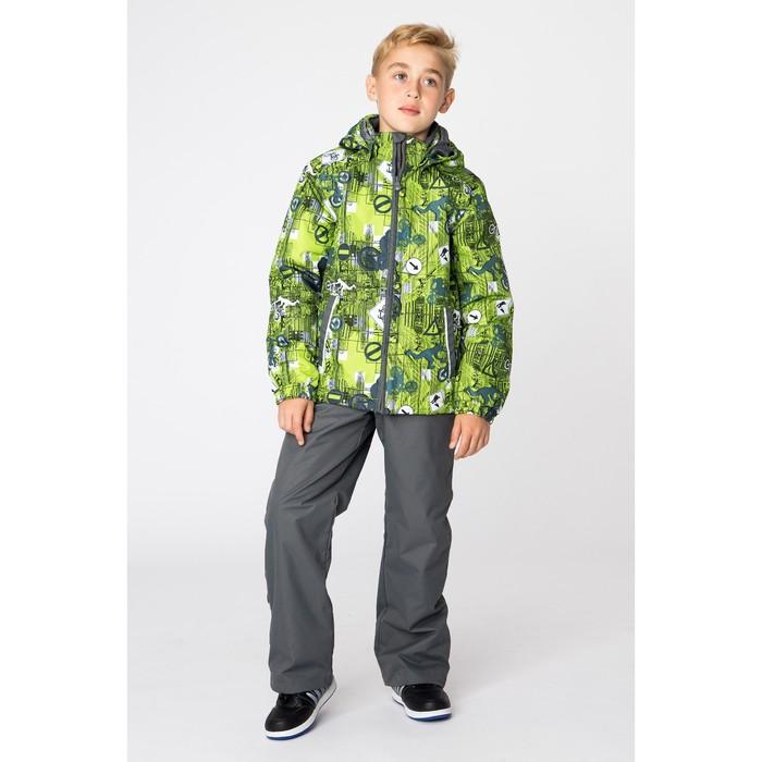 """Комплект для мальчика """"YOKO 1"""", рост 128 см, цвет лайм с принтом/серый 72247"""