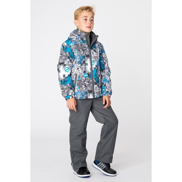 """Комплект для мальчика """"YOKO 1"""", рост 134 см, цвет  белый с принтом/серый 72248"""