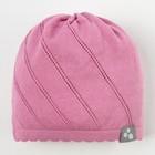 """Шапка вязаная для девочки """"DORIS"""", размер М (2-6 лет), цвет розовый"""
