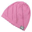 """Шапка вязаная для девочки """"DORIS"""", размер S (1-2 года), цвет розовый"""