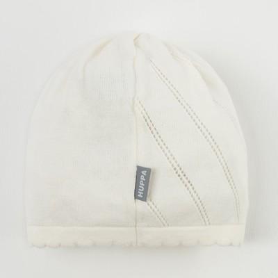"""Шапка вязанная для девочки """"DORIS"""", размер L (6-11 лет), цвет белый 70020"""