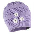 """Шапка вязаная для девочки """"GLORIA"""", размер S (1-2 года), цвет светло-лиловый"""