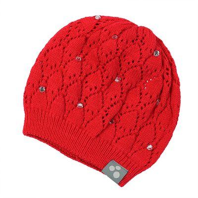 """Шапка вязанная для девочки """"LACY"""", размер М (2-6 лет), цвет красный 70004"""
