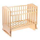 Детская кроватка «Чудо» на качалке с поперечным маятником, цвет бежевый/слоновая кость - фото 1703688