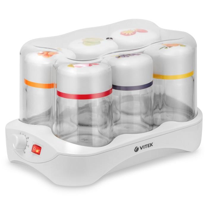 Йогуртница Vitek VT-2600 W, 24 Вт, 6 баночек, таймер