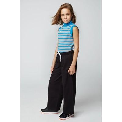 Водолазка для девочки, рост 140 (72) см, цвет серый меланж/голубой