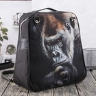 Сумка-рюкзак, отдел на молнии, наружный карман, цвет чёрный