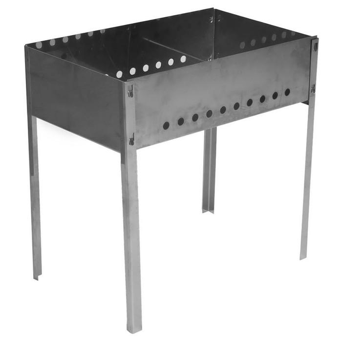 Мангал, толщина 0,8 мм, в коробке, без шампуров, размер 50 х 30 х 50 см