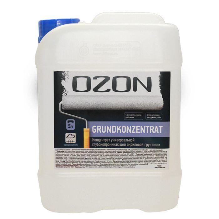 Грунт-концентрат OZON GrundKonzentrat ВД-АК 016М акриловая 10 л