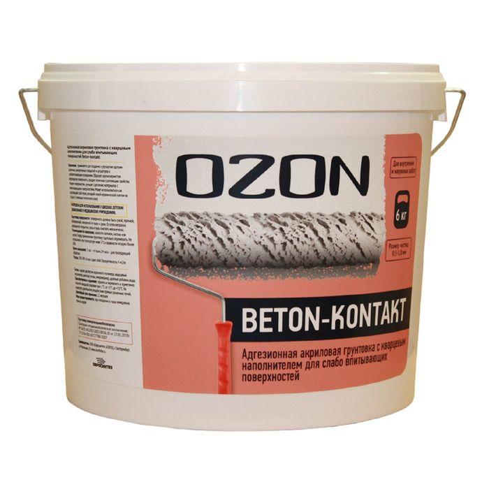 Грунтовка Бетон-контакт OZON Beton-kontakt ВД-АК 040М акриловая 35 кг