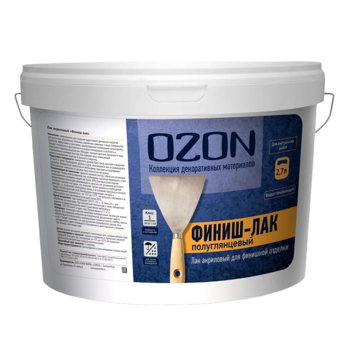 """Лак акриловый OZON """"Финиш-лак"""" 2,7 л (2,7 кг)"""