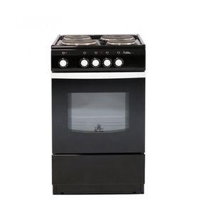Плита De Luxe 5004.12 Э, электрическая, 4 конфорки, 43 л, эмаль, без гриля, черная