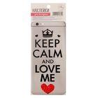 """Наклейки для телефона """"Keep calm and love me"""""""