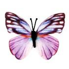 "Магнит текстиль ""Бабочка нежно-розового цвета"" 6,5х7,5 см"