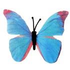 """Магнит текстиль """"Бабочка цвета морской волны"""" 6,5х7,5 см"""