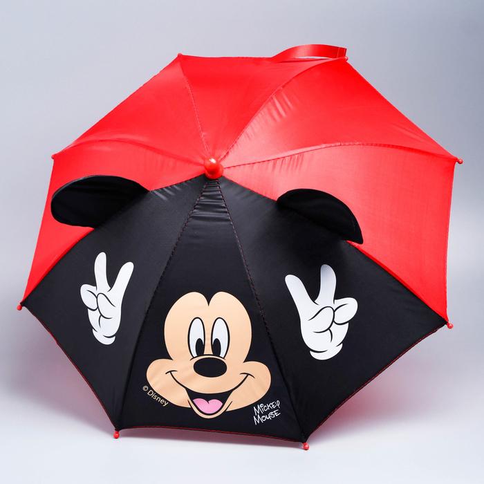 """Зонт детский """"Отличное настроение"""" Микки Маус 8 спиц d=52 см с ушами"""