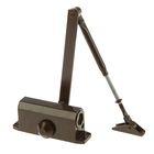 Доводчик дверной, до 40 кг, коричневый