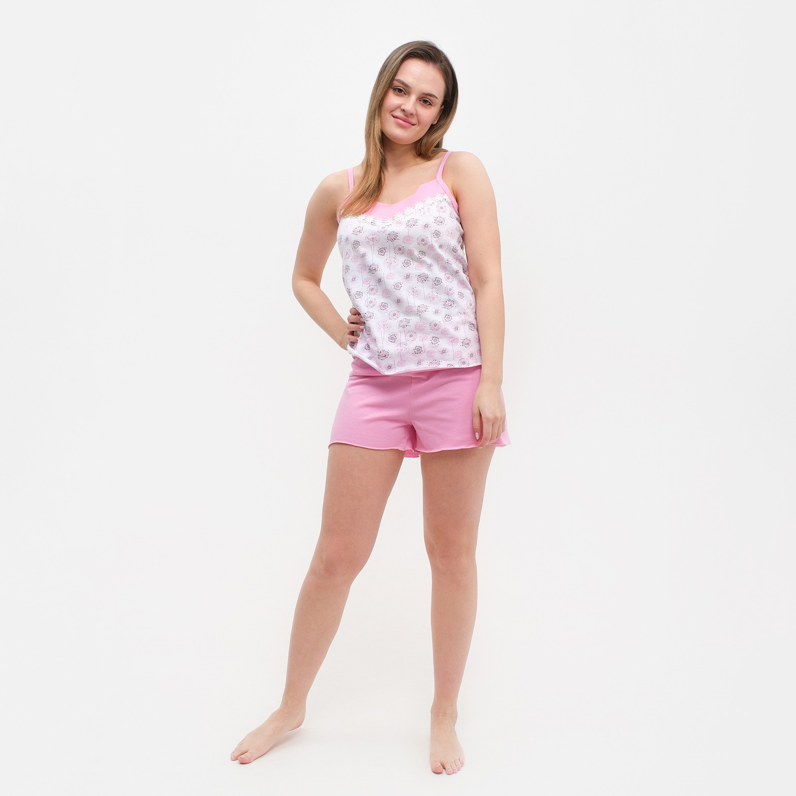 8d06042192ca1aa Пижама женская (майка, шорты), микс, размер 48 (ПК25) - Купить по ...