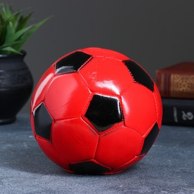 "Копилка ""Мяч"" 14х14х13см красно-черный"