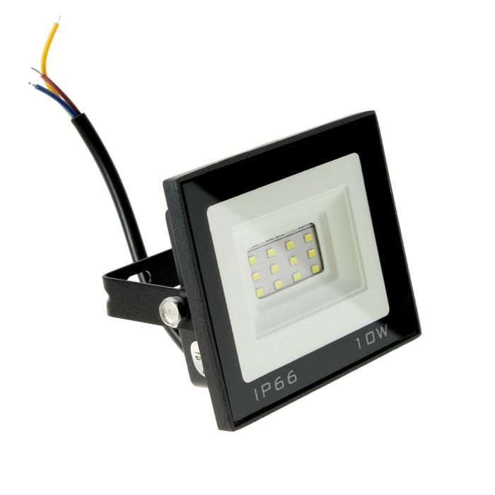 Прожектор светодиодный Luazon Lighting 10 Вт, 800 Лм, 6500К, IP66,  220V