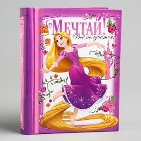 """Фотоальбом на 10 магнитных листов в твёрдой обложке """"Мечтай! Все получится!"""", Принцессы: Рапунцель"""