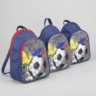 Рюкзак детский на молнии, 2 отдела, цвет красный/синий, рисунок МИКС