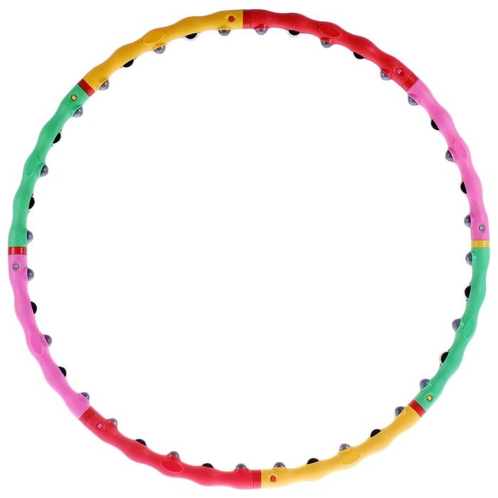 Обруч с роликами и шипами, разборный, 98 см, цвет МИКС