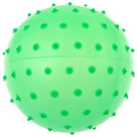 Мячик массажный, матовый пластизоль, d=12 см, 24 г, МИКС