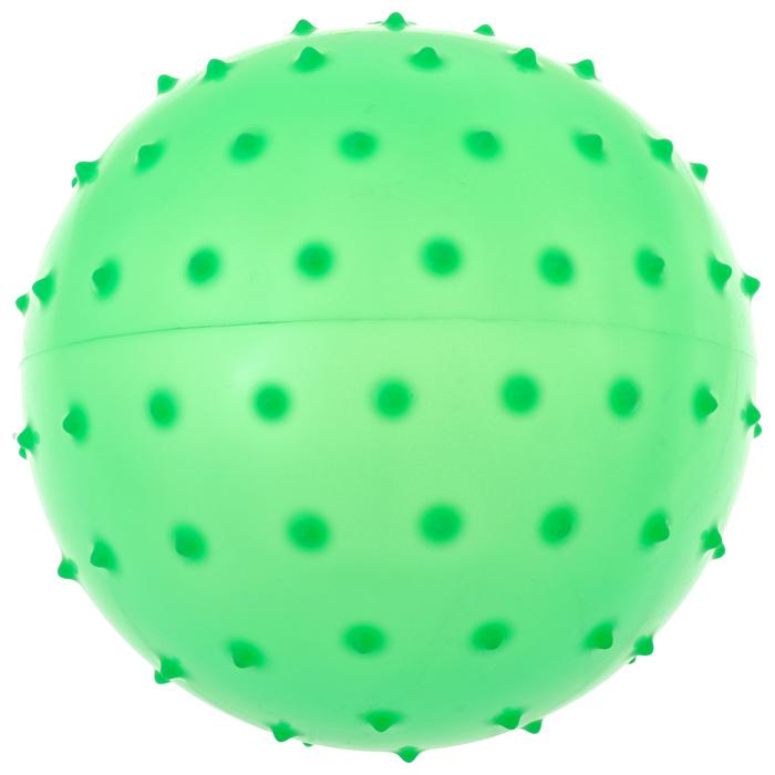 Мячик массажный цвет матовый пластизоль d=12 см 24гр, цвета МИКС