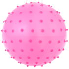 Мячик массажный цвет матовый пластизоль d=16 см 35гр, цвета МИКС