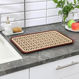 Поднос с вкладышем для сушки посуды DDSTYLE, 46×30 см, цвет МИКС
