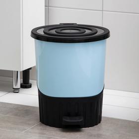 Ведро для мусора с педалью, 14 л, цвет МИКС